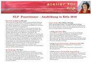 NLP-Ausbildungen 2010