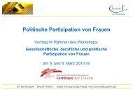 Politische Partizipation von Frauen - forumF-Online