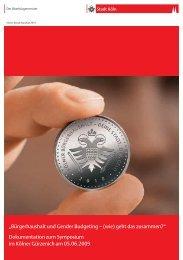 Bürgerhaushalt und Gender Budgeting – (wie) geht ... - forumF-Online