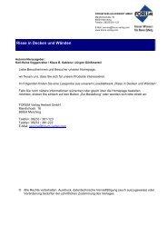 Risse in Decken und Wänden - Forum Verlag Herkert GmbH
