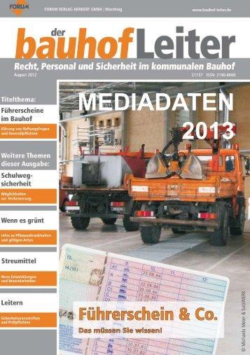 MEDIADATEN 2013 - Forum Verlag Herkert GmbH