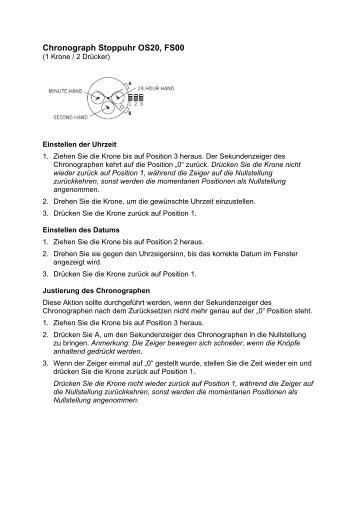 fossil grant chronograph instructions