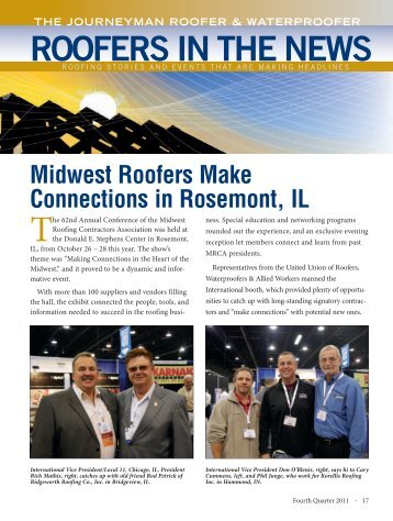 ROOFERS IN THE NEWS - The Roofers Union