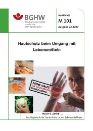 Hautschutz beim Umgang mit Lebensmitteln - Gesundheitsdienstportal