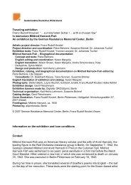 """Traveling exhibition FranzRudolfKnubel:""""…zurkleinstenSchar ..."""