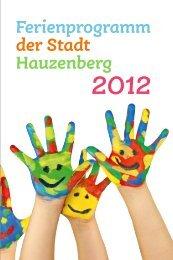 Ferienprogramm der Stadt Hauzenberg