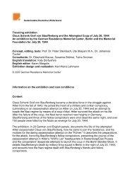Traveling exhibition Claus Schenk Graf von Stauffenberg and the ...
