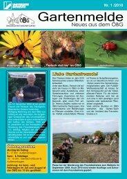 Ausgabe 2010/1 - Ökologisch-Botanischer Garten - Universität ...