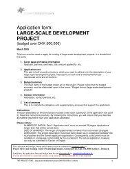 Application form: LARGE-SCALE DEVELOPMENT PROJECT