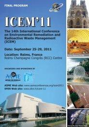 ICEM11 Final Program 9.7.11pm_ICEM07 Final Program ... - Events