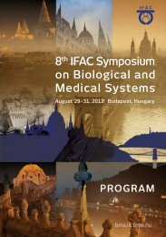 8th IFaC Symposium on Biological and medical Systems