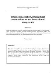 Internationalisation, intercultural communication and intercultural ...