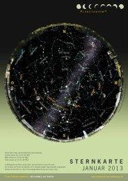STERNKARTE Januar 2013 - Planetarium Hamburg