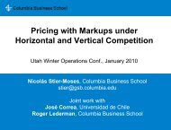Pricing with Markups under Horizontal and Vertical Competition