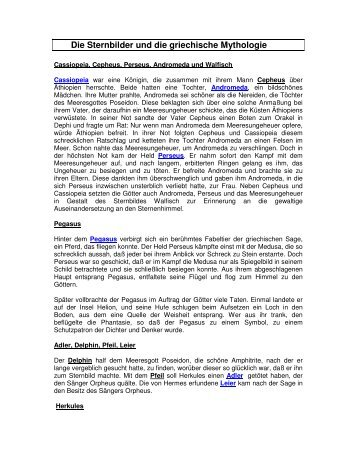 Die Sternbilder und die griechische Mythologie - Fornoff