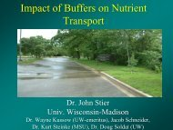 Impact of Buffers on Nutrient Transport - Center for Turfgrass Science