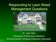 (Stier, John) Responding to Lawn Weed Management Questions