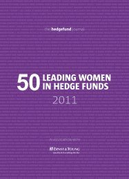 50 Leading Women in Hedge Funds - The Hedge Fund Journal