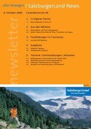 Nummer 40/2006 - SalzburgerLand Netoffice - Salzburger Land