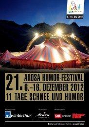 Programmheft Arosa Humor-Festival 2012