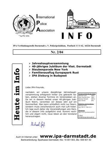 Heute im INFO zu lesen: - IPA Darmstadt