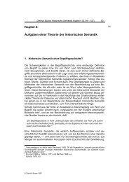 Kapitel 4: Aufgaben einer Theorie der historischen Semantik