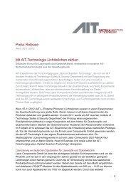Press Release Mit AIT-Technologie Lichtteilchen zählen