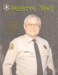 Reserve News - Los Angeles County Sheriff's Department Reserve ...