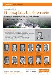 Finanzplatz Liechtenstein - Liechtensteinische Landesbank