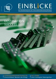 Destination Success als PDF lesen - Unternehmensberatung Heckner