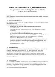 Protokoll der Vorstandssitzung, 22. 11. 2010
