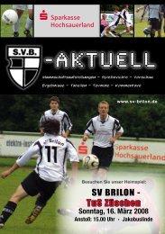 """8. Ausgabe 2007/2008 von """"SVB-aktuell"""" - SV 20 Brilon"""