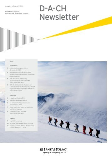 D-A-CH Newsletter - Home - Ernst & Young - Schweiz