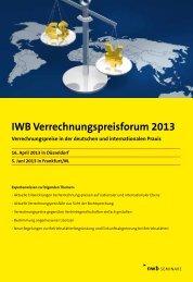 Tagungsprogramm und Anmeldung als pdf zum Download - NWB Verlag
