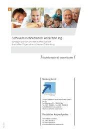 Schwere Krankheiten Absicherung Sparteninformation - Schramm ...