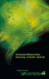 Klavierabend Mitsuko Uchida Donnerstag - Konzerthaus Dortmund