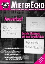 ME 285-Heft - Berliner MieterGemeinschaft eV