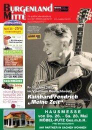 """Rainhard Fendrich """"Meine Zeit"""" - Burgenland Mitte"""