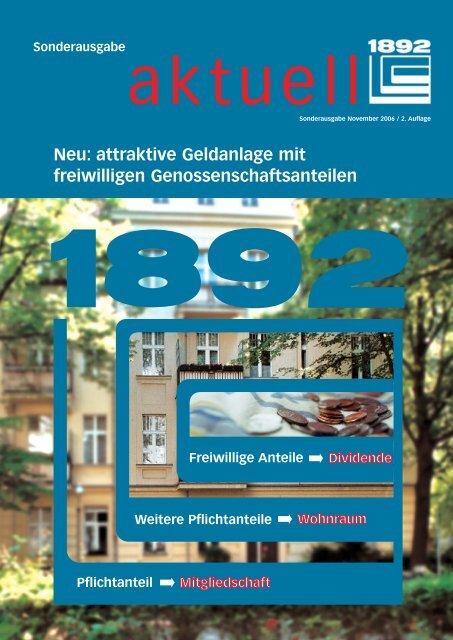Sonderausgabe freiwillige Anteile - Berliner Bau- und ...