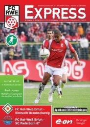 SC Paderborn 07 - FC Rot-Weiss Erfurt e.V.