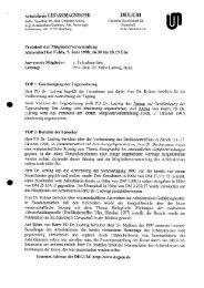 Protokoll der Mitgliederversammlung, 5. Juni 1998 - Degum