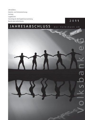Jahresabschluss und Lagebericht - Volksbank eG