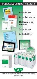 verlagsverzeichnis 2012 - Verlag Deutsche Polizeiliteratur GmbH