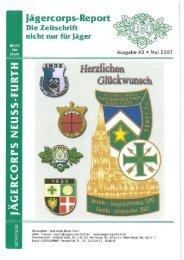 2007 Pfingsten Ausgabe - Jägercorps Neuss - Furth 1932