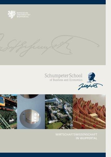 Schumpeter School Broschüre 2008 - Prof. Dr. Norbert Koubek ...