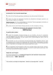 Blanko-Darlehensantrag für Ihre Anschlussfinanzierung - Santander ...