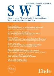 Steuer und Wirtschaft International Tax and Business Review - ICON ...