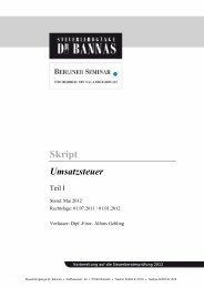 Skript - Steuerlehrgänge Dr. Bannas