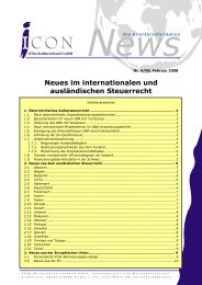 Neues im internationalen und ausländischen Steuerrecht - ICON ...