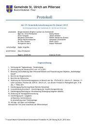 19. Gemeindratssitzung (959 KB) - .PDF - St. Ulrich am Pillersee ...